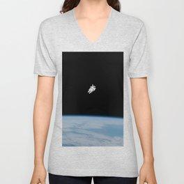 Space Walk Exploration Unisex V-Neck