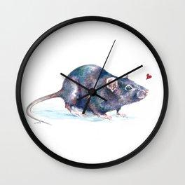 Rat love Wall Clock