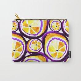 Sweet Plum Lemon Carry-All Pouch