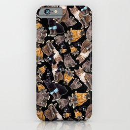 Tough Cats on Black iPhone Case