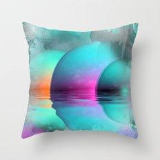 where three suns rise Throw Pillow