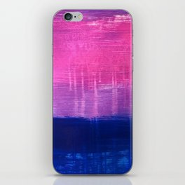 Bisexual Flag: abstract acrylic piece in pink, purple, and blue #pridemonth iPhone Skin