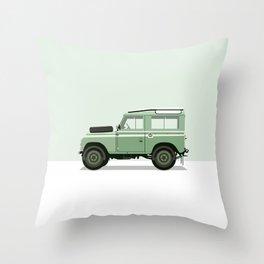 Car illustration - land rover defender Throw Pillow