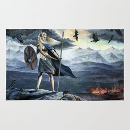 Valkyrie and Crows Rug