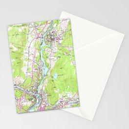 Vintage Lebanon & Hanover New Hampshire Map (1959) Stationery Cards