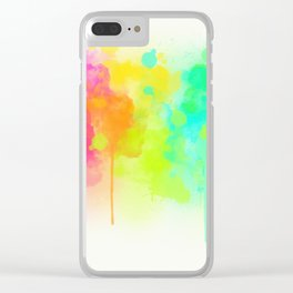 Dribbling Paint Clear iPhone Case
