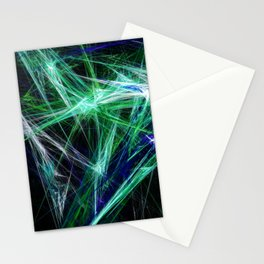 Green light beam Stationery Cards