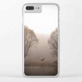 Early morning forest and creek Clear iPhone Case