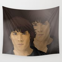 winchester Wall Tapestries featuring Sam Winchester by siddick49