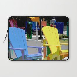 Brightly Colored Chairs Laptop Sleeve