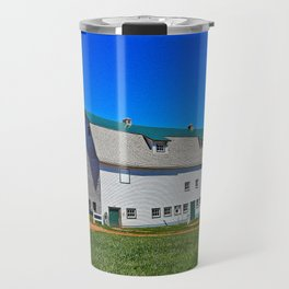 Beautiful Barn under Blue Sky Travel Mug
