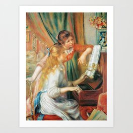 Auguste Renoir  -  Girls At The Piano Art Print
