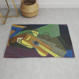"""Juan Gris """"Guitare sur une table (Guitar on a table)"""" Rug"""