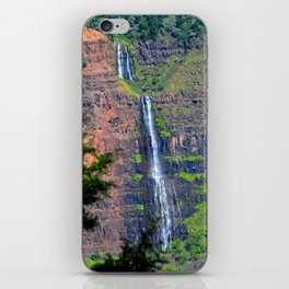 The Falls of Waimea Canyon Waipoo iPhone Skin