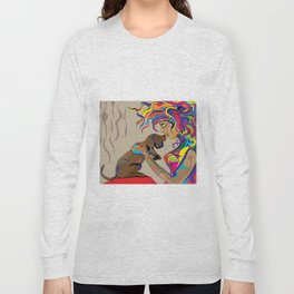 """""""Fall in Lust"""" Paulette Lust's Original, Contemporary, Whimsical, Colorful Art  Long Sleeve T-shirt"""