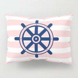 AFE Pink and Navy Helm Wheel Pillow Sham