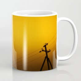 Pillar for electricity wire on twilight time Coffee Mug