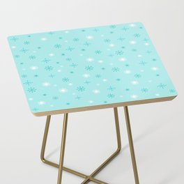 AFE Turquoise Snowflakes Side Table