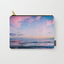 Pink and Blue Ocean Sunset Carry-All Pouch