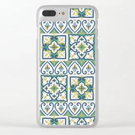 Italian Tile Pattern – Sicilian ceramic from Caltagirone Clear iPhone Case