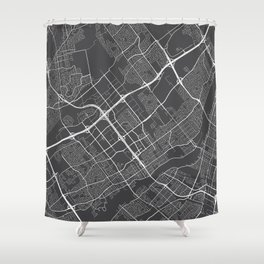 Laval Map, Canada - Gray Shower Curtain