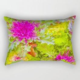 Colorful Nature Print Photo Rectangular Pillow