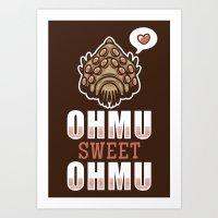 nausicaa Art Prints featuring Ohmu Sweet Ohmu by adho1982
