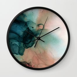 Blue Typhoon Wall Clock
