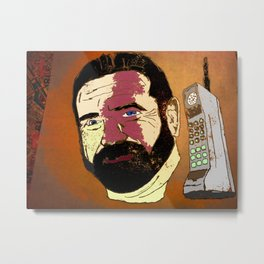Billy Mays here calling you about my life-altering port-wine stain.  Metal Print