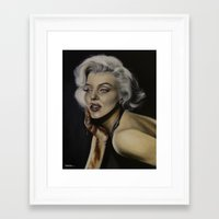 monroe Framed Art Prints featuring Monroe by Stefaniediers