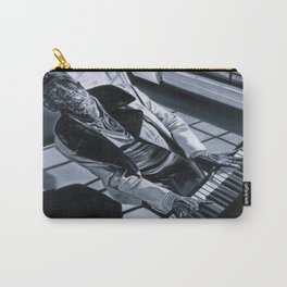 Blues Man With Piano Carry-All Pouch