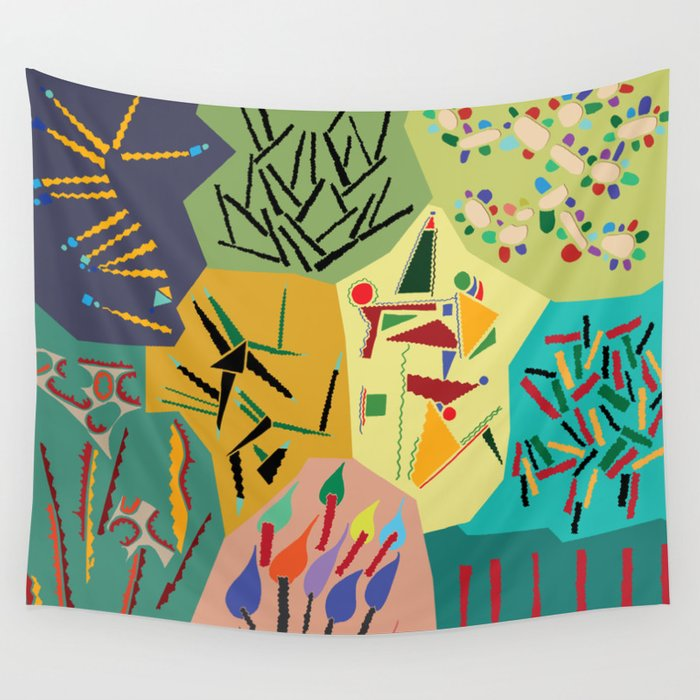 collage play Wall Tapestry