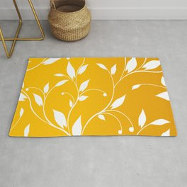 FLOWERY VINES | yellow white Rug
