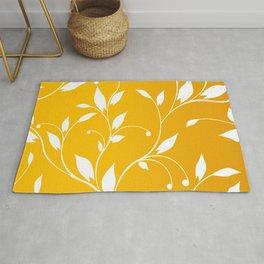 FLOWERY VINES | yellow white Rug