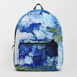 Abstract Nature Acrylic Pour Backpack