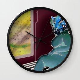 space tiger pinup Wall Clock