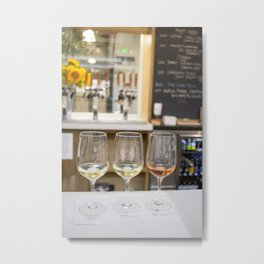 Wine Time in Santa Barbara, California Metal Print