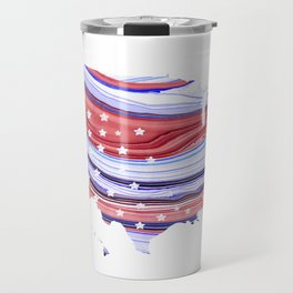Unique Red White And Blue - USA Map 27 - Sharon Cummings Travel Mug