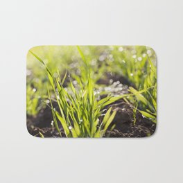 sprouts of wheat Bath Mat