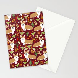 Corgi Margarita Party Stationery Cards