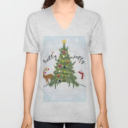 Christmas Unisex V-Neck
