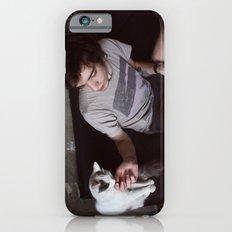 boy with cat Slim Case iPhone 6s
