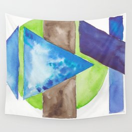 180819 Geometrical Watercolour 8| Colorful Abstract | Modern Watercolor Art Wall Tapestry