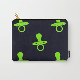 Green pacifiers pattern Carry-All Pouch