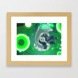 Emerald Megalith Framed Art Print