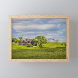 Jumbled Abandoned Farm, Burleigh County, North Dakota 1 Framed Mini Art Print