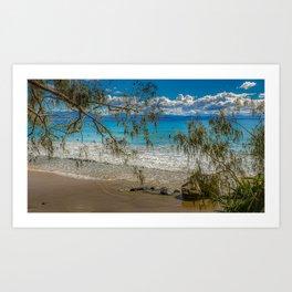 Byron Bays' Blue Surf Art Print