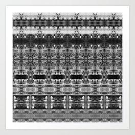 Cafe Stripe Photographic Pattern Art Print #1 Art Print