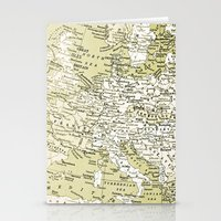 europe Stationery Cards featuring 1938 Europe by inourgardentoo