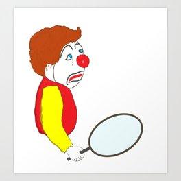 The Sad Clown Art Print